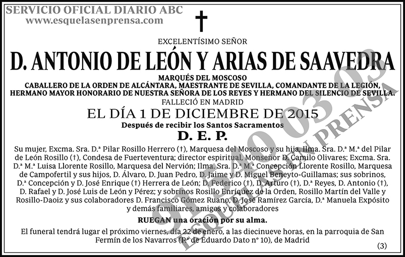 Antonio de León y Arias de Saavedra